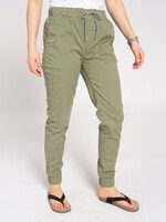 Bequeme Jogg-Chino in olive von Recolution