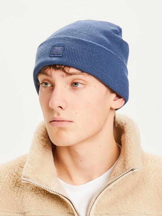 Knowledge Cotton Apparel  Mützen Leaf Rib Hat [dark denim] One Size jetzt im Onlineshop von zündstoff bestellen