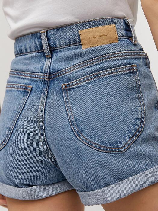 ARMEDANGELS Shorts Silvaa [faded blue] jetzt im Onlineshop von zündstoff bestellen