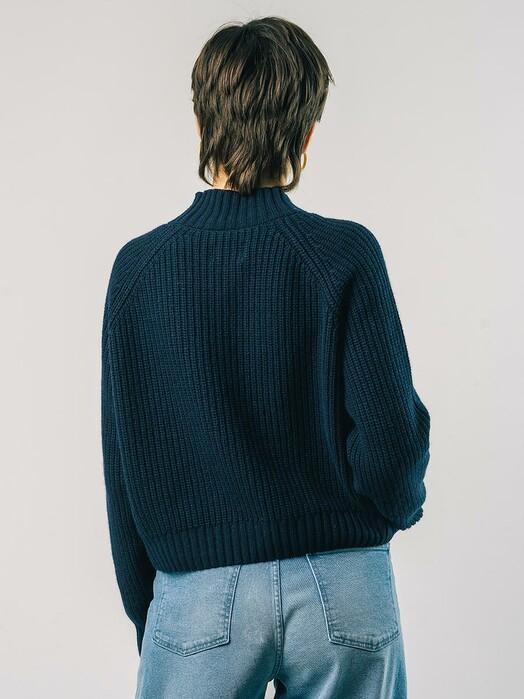 Brava Fabrics Strickpullover & Cardigans Moscow Cropped Sweater [navy] jetzt im Onlineshop von zündstoff bestellen