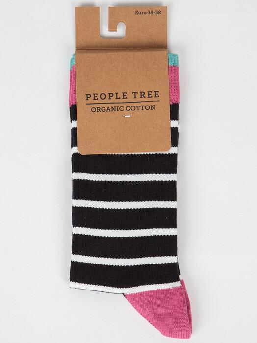 People Tree  Socken  Striped Socks [black] jetzt im Onlineshop von zündstoff bestellen