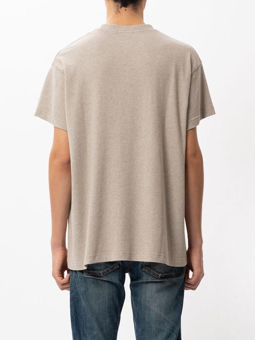 nudie Jeans T-Shirts Milton Recycled Tee [beige melange] jetzt im Onlineshop von zündstoff bestellen