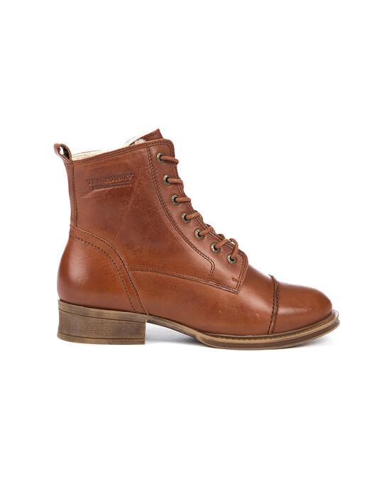 Ten Points Schuhe  Pandora Laced Gefüttert [cognac] jetzt im Onlineshop von zündstoff bestellen