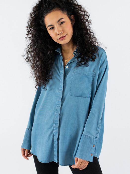 Kuyichi  Blusen Mia Tencel Shirt [light blue] jetzt im Onlineshop von zündstoff bestellen