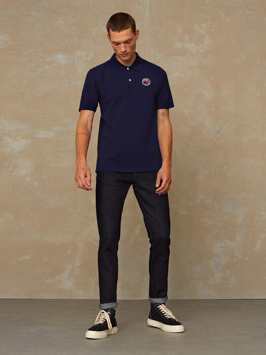 K.O.I. Jeans Hemden & Polos Chokei [navy fuji badge] L jetzt im Onlineshop von zündstoff bestellen