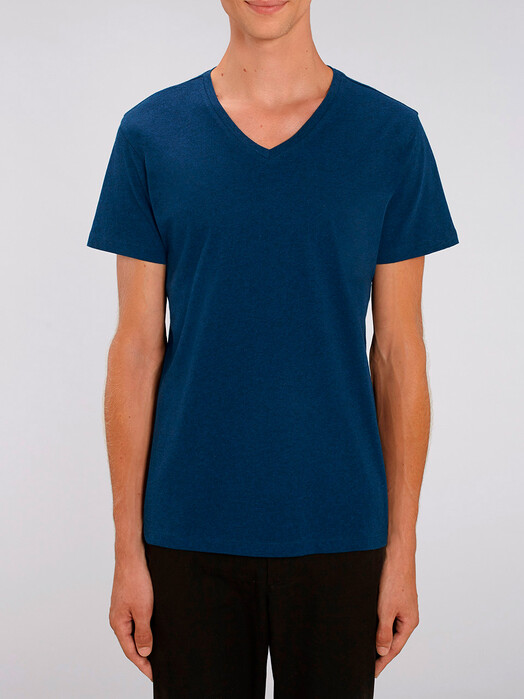 T-Shirts - Peer [diverse Farben] - XL, black heather blue 2