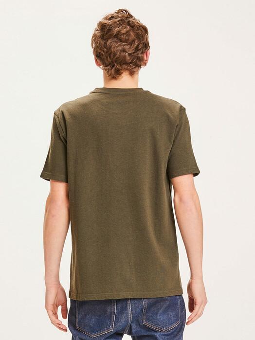 Knowledge Cotton Apparel  T-Shirts Alder Badge Tee [green melange] jetzt im Onlineshop von zündstoff bestellen