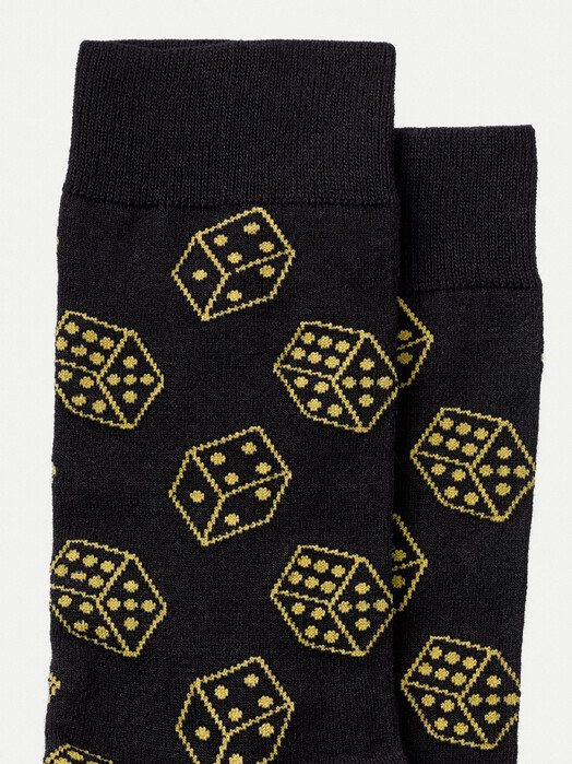 nudie Jeans Socken  Olsson Dices [black] One Size jetzt im Onlineshop von zündstoff bestellen