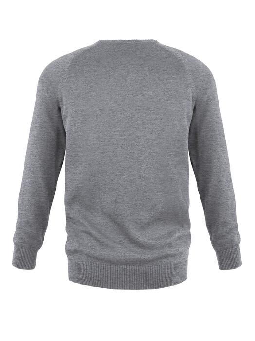 melawear Strickpullover Strickpullover Basic [grey blend] M jetzt im Onlineshop von zündstoff bestellen