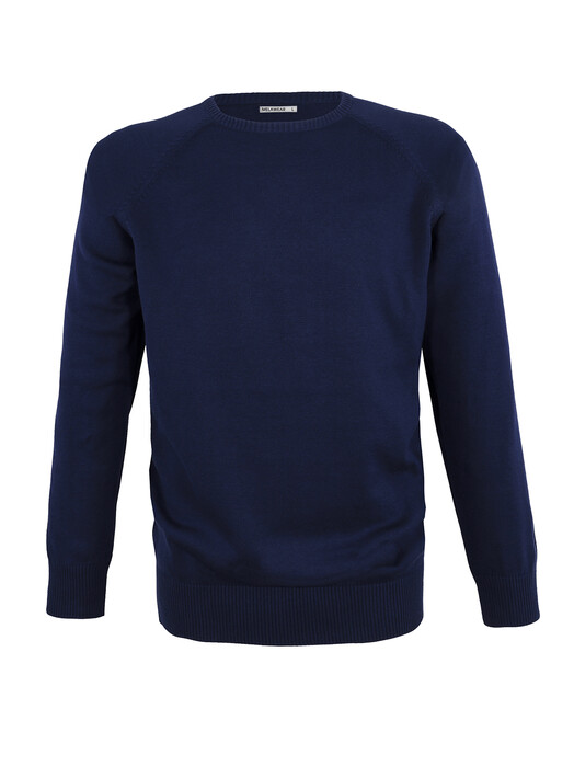 Strickpullover - Strickpullover Basic [blau] 1