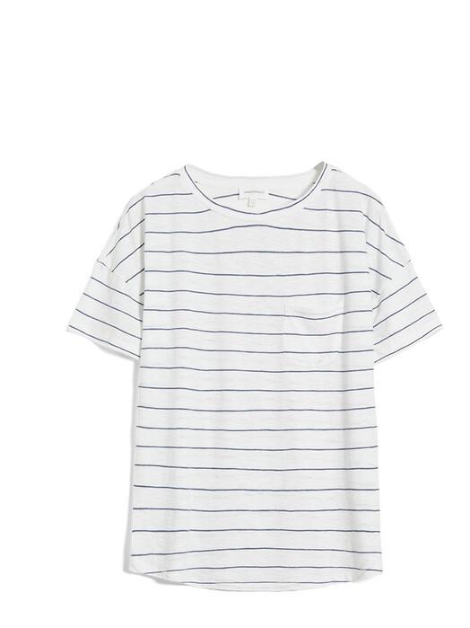 ARMEDANGELS T-Shirts Melinaa Stripes [oatmilk/foggy blue] jetzt im Onlineshop von zündstoff bestellen