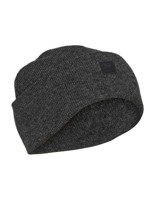 Knowledge Cotton Apparel  Mützen Leaf Organic Wool Beanie [dark grey melange] One Size jetzt im Onlineshop von zündstoff bestellen