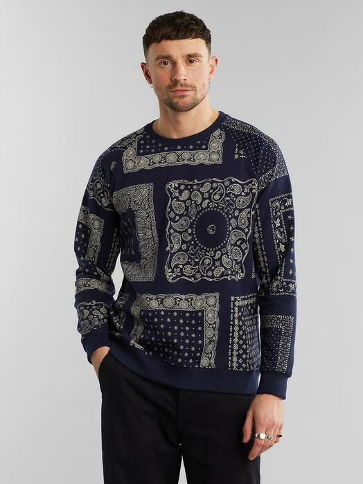 Dedicated Sweatshirts Malmoe Bandanas [navy] jetzt im Onlineshop von zündstoff bestellen