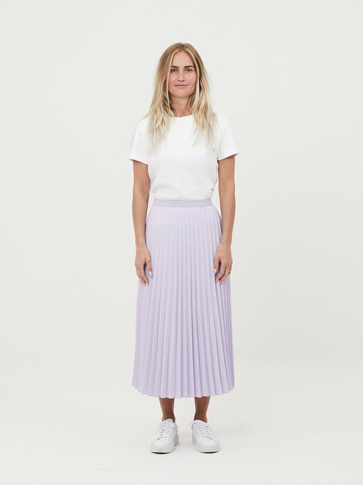 Knowledge Cotton Apparel  Röcke Daffodil Pleated Midi Skirt [pastel lilac] jetzt im Onlineshop von zündstoff bestellen