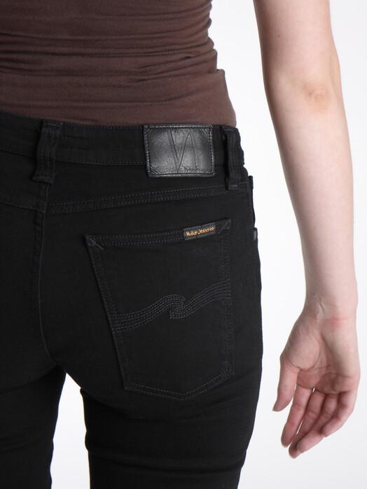 nudie Jeans Jeans Skinny Lin [black black] 26, 32 jetzt im Onlineshop von zündstoff bestellen
