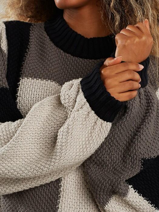 Dedicated Strickpullover & Cardigans Rutbo Blocks [grey] jetzt im Onlineshop von zündstoff bestellen