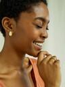People Tree  Schmuck Curled Leaf Stud Earring [brass] One Size jetzt im Onlineshop von zündstoff bestellen