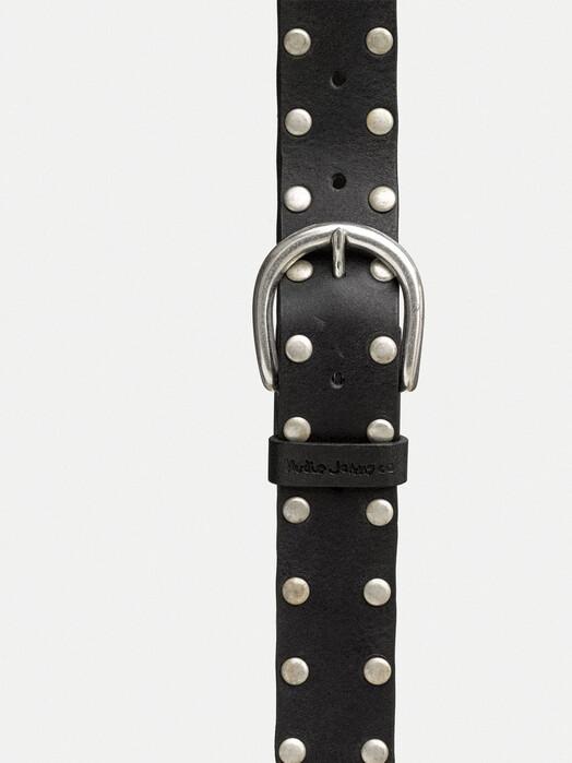 nudie Jeans Gürtel Richardsson Studs Belt [black] jetzt im Onlineshop von zündstoff bestellen