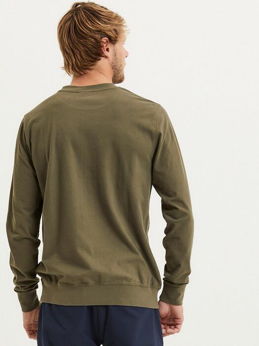 Knowledge Cotton Apparel  Sweatshirts Elm Garment Dyed Piqué [forrest night] jetzt im Onlineshop von zündstoff bestellen