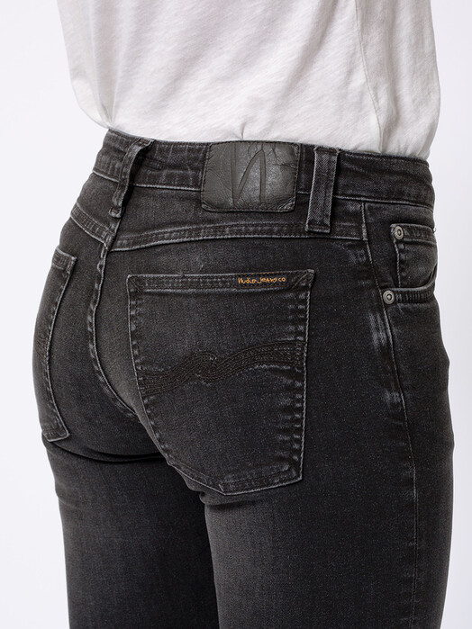 nudie Jeans Jeans Skinny Lin [worn black] 28, 30 jetzt im Onlineshop von zündstoff bestellen