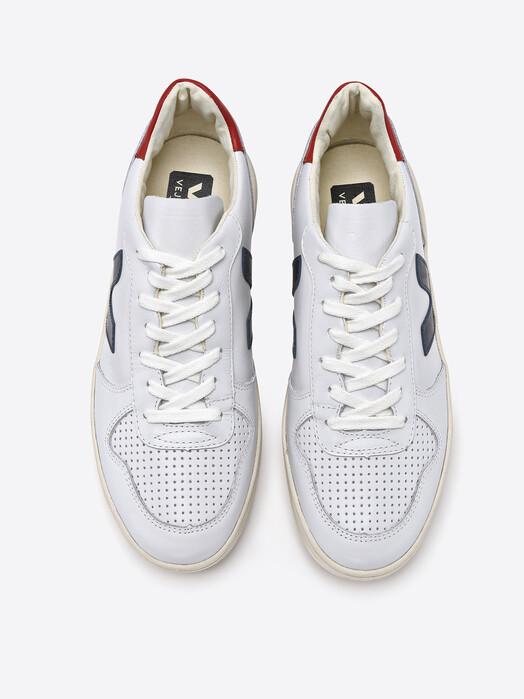 Veja Schuhe V-10 Leather [extra-white nautico pekin] jetzt im Onlineshop von zündstoff bestellen