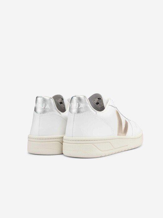 Veja Schuhe  V-10 Leather [extra-white platine silver] jetzt im Onlineshop von zündstoff bestellen