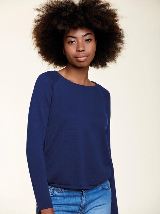 Les Racines du Ciel Strickpullover & Cardigans Bubble Round Neck Sweater [indigo] jetzt im Onlineshop von zündstoff bestellen