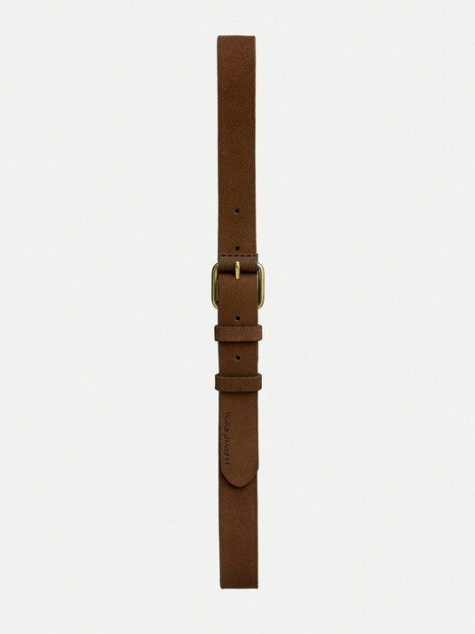 nudie Jeans Gürtel Dwayne Suede Belt [brown] 90 cm jetzt im Onlineshop von zündstoff bestellen