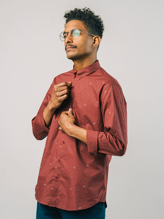 Brava Fabrics Hemden & Polos Locomotive Shirt [porto wine] jetzt im Onlineshop von zündstoff bestellen