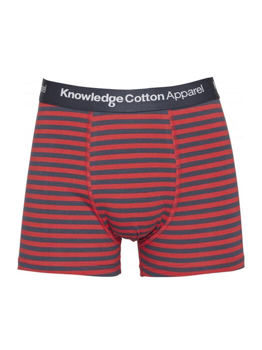 Knowledge Cotton Apparel  Unterwäsche  Maple 3 Pack Striped [pompeian red] jetzt im Onlineshop von zündstoff bestellen