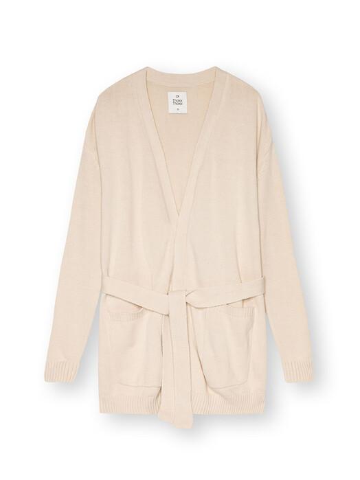 ThokkThokk  Strickpullover & Cardigans Wrap Cardigan [cloud cream] jetzt im Onlineshop von zündstoff bestellen