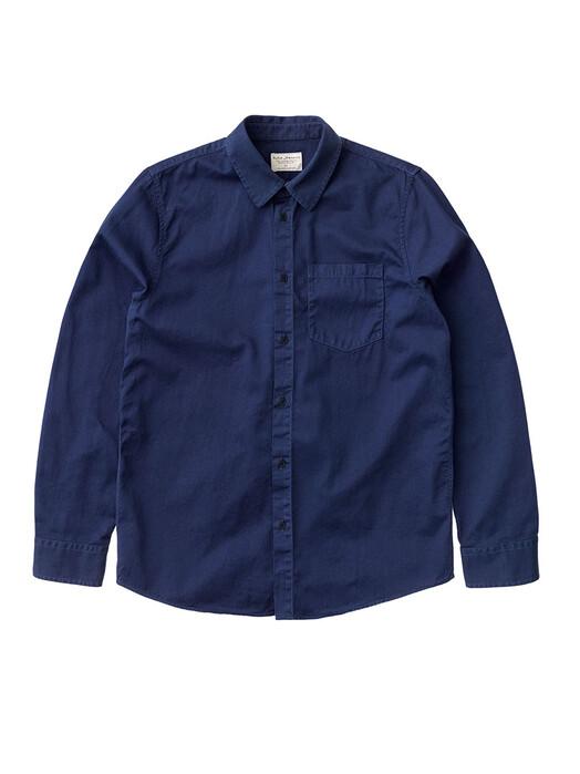 nudie Jeans Hemden & Polos Chet Pigment Dye [blueberry] jetzt im Onlineshop von zündstoff bestellen