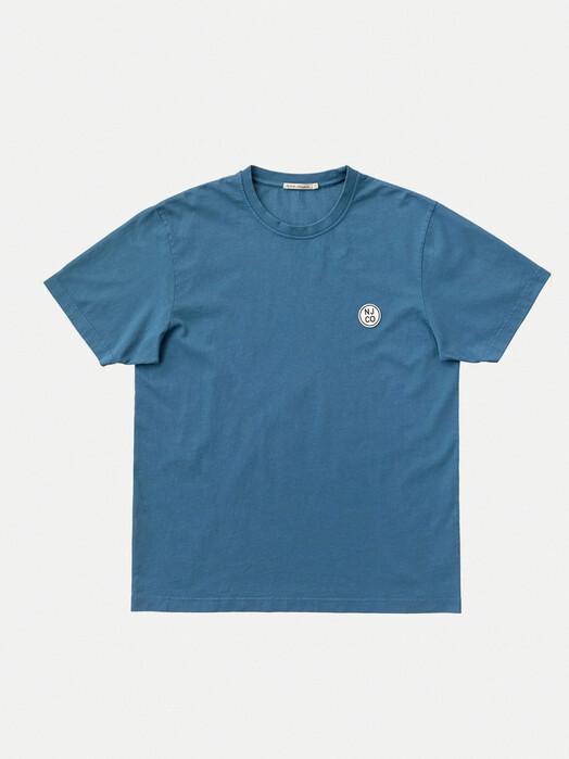 nudie Jeans T-Shirts Uno NJCO Circle [sky blue] jetzt im Onlineshop von zündstoff bestellen
