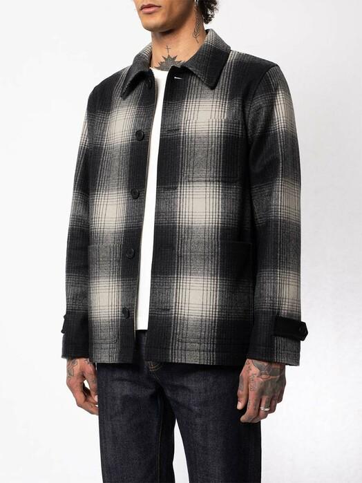 nudie Jeans Jacken & Mäntel Mangan Shadow Check Jacket [black check] M jetzt im Onlineshop von zündstoff bestellen