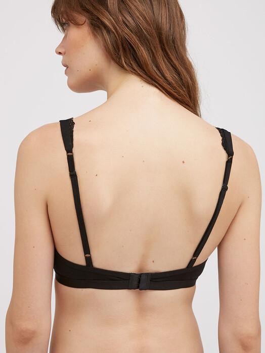 People Tree  Unterwäsche  Lace Trim Triangle Bra [black] M jetzt im Onlineshop von zündstoff bestellen