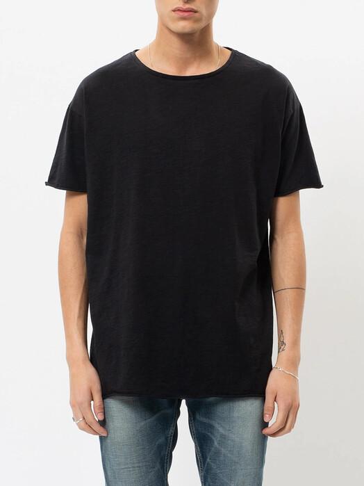 nudie Jeans T-Shirts Roger Slub [black] M jetzt im Onlineshop von zündstoff bestellen