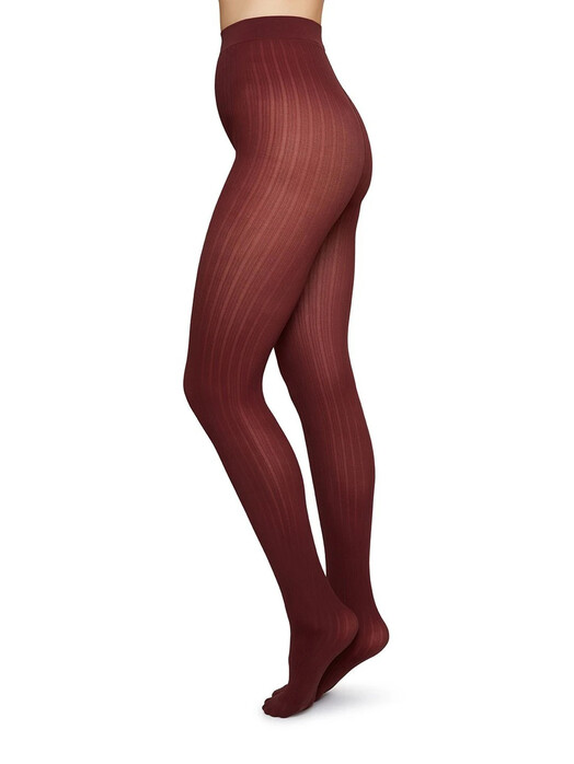 Swedish Stockings Leggings & Strumpfhosen Alma Rib [wine] L jetzt im Onlineshop von zündstoff bestellen