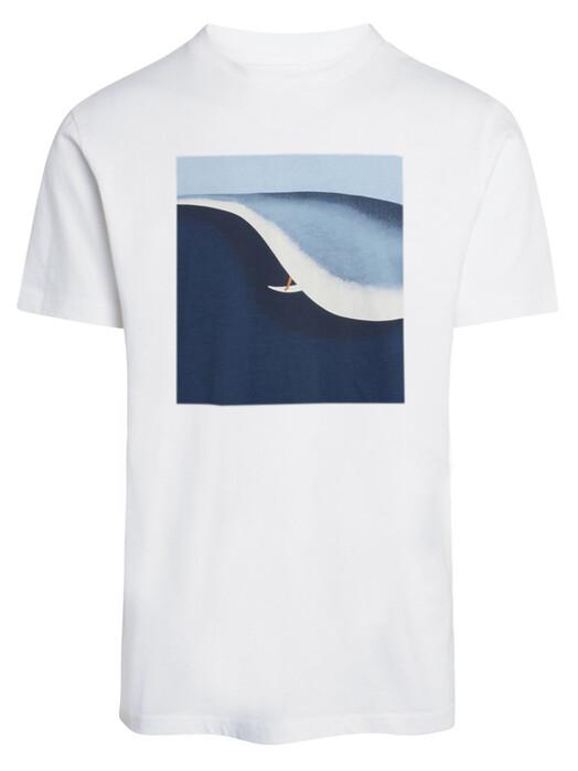 Knowledge Cotton Apparel  T-Shirts Alder Surf Tee [bright white] XL jetzt im Onlineshop von zündstoff bestellen