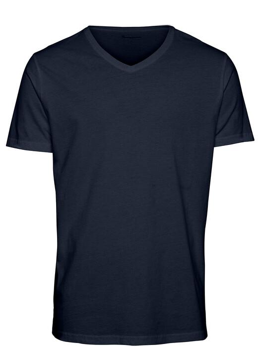 Knowledge Cotton Apparel  T-Shirts Alder Basic V-Neck Tee [total eclipse] jetzt im Onlineshop von zündstoff bestellen