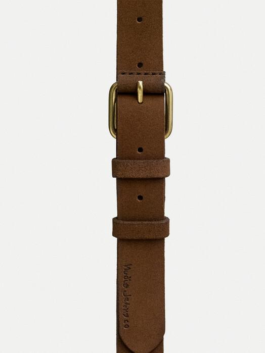 nudie Jeans Gürtel Dwayne Suede Belt [brown] jetzt im Onlineshop von zündstoff bestellen
