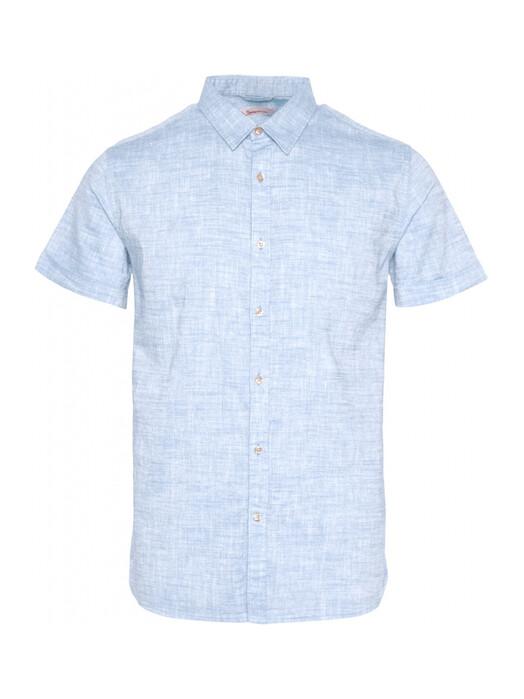 Knowledge Cotton Apparel  Hemden & Polos Larch Short Linen Shirt [skyway] jetzt im Onlineshop von zündstoff bestellen