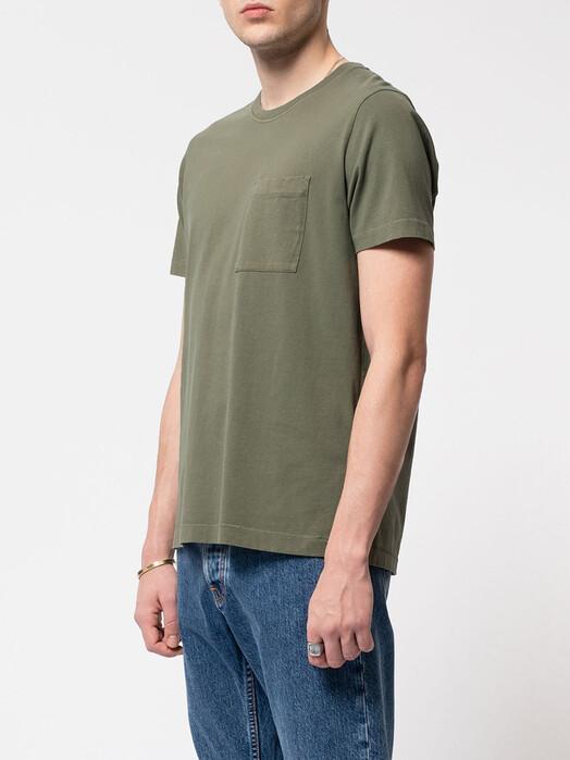 nudie Jeans T-Shirts Roy One Pocket Tee [green] L jetzt im Onlineshop von zündstoff bestellen
