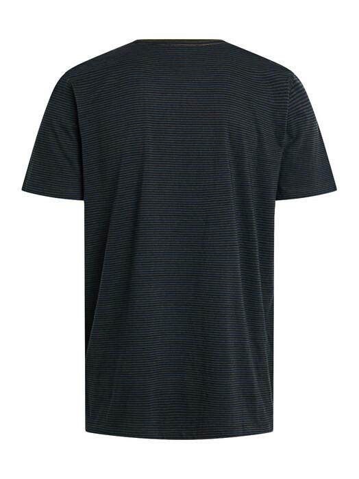 Knowledge Cotton Apparel  T-Shirts Alder Striped Basic Tee [forrest night] jetzt im Onlineshop von zündstoff bestellen