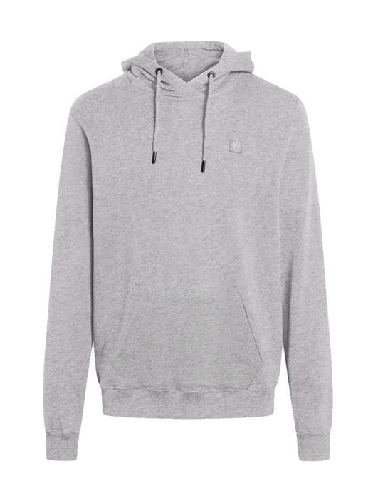 Knowledge Cotton Apparel  Hoodies Elm Badge Hoodie [grey melange] jetzt im Onlineshop von zündstoff bestellen