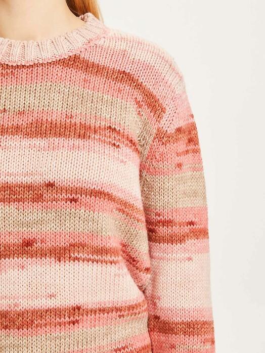 Knowledge Cotton Apparel  Strickpullover & Cardigans Myrthe Multi Stripe [arabian spice] jetzt im Onlineshop von zündstoff bestellen