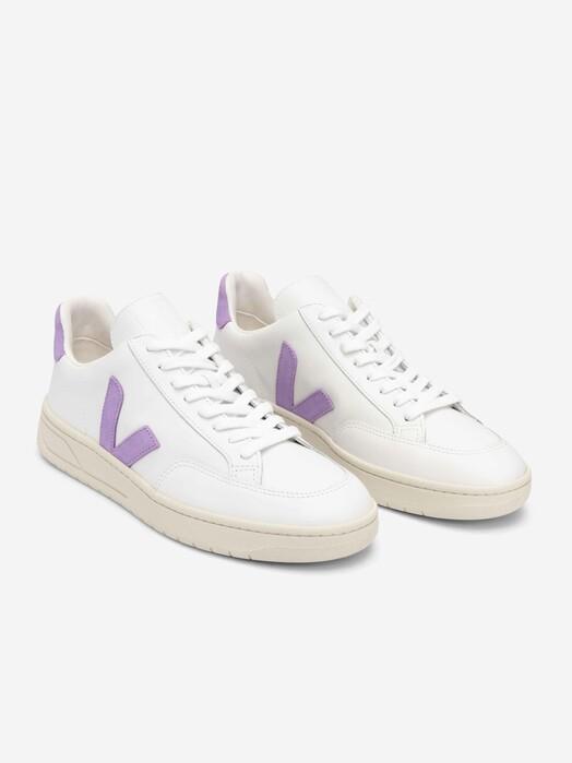 Veja Schuhe  V-12 Leather [extra-white lavande] jetzt im Onlineshop von zündstoff bestellen