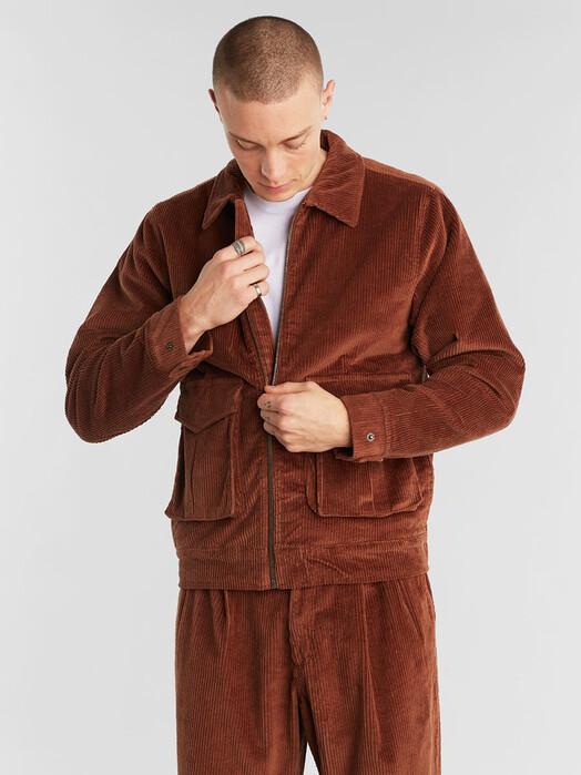 Dedicated Jacken & Mäntel Padded Jacket Vallentuna Corduroy [brown] jetzt im Onlineshop von zündstoff bestellen