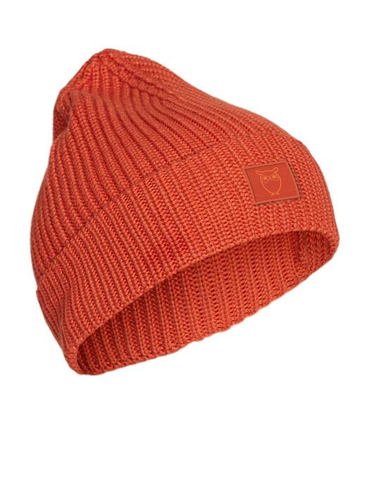 Knowledge Cotton Apparel  Mützen Leaf Ribbing Hat [rust] One Size jetzt im Onlineshop von zündstoff bestellen