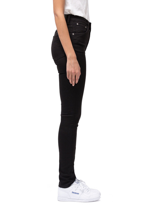 nudie Jeans Jeans Hightop Tilde [everblack] jetzt im Onlineshop von zündstoff bestellen