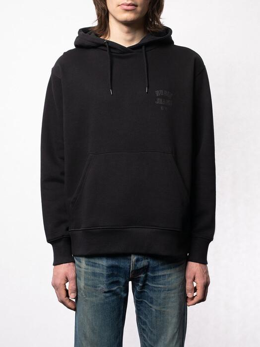nudie Jeans Hoodies Franke Logo Hoodie [black] jetzt im Onlineshop von zündstoff bestellen